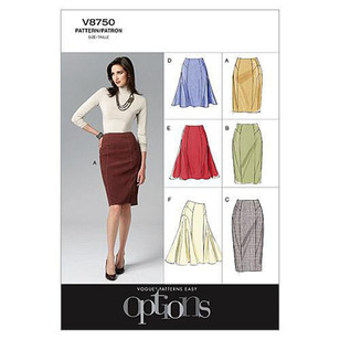 Vogue Pattern V8750 Misses' Skirt