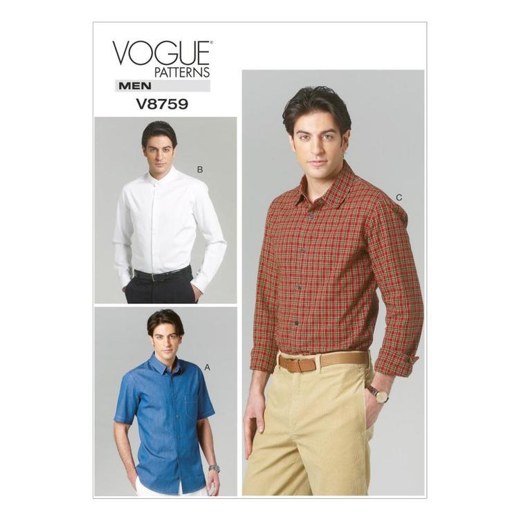 Vogue Pattern V8759 Men's Shirt