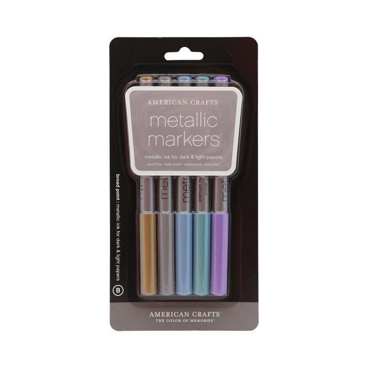 American Crafts Broad Metallic Markers
