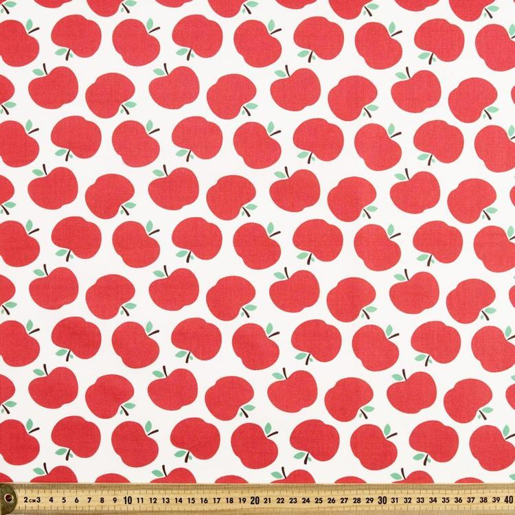 Spots & Stripes Apple Printed 112 cm Cotton Fabric