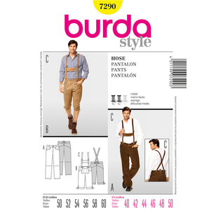 Burda 7290 Men's Pants