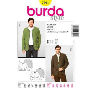 Burda 7291 Men's Jacket