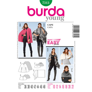 Burda 7313 Women's Coat