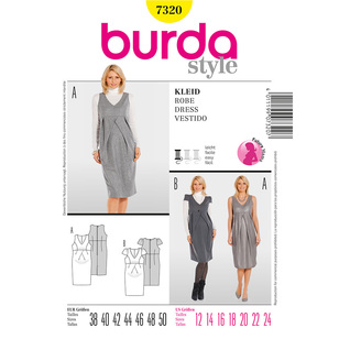 Burda 7320 Women's Dress