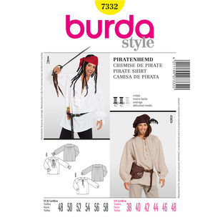 Burda Pattern 7332 Pirate Costume