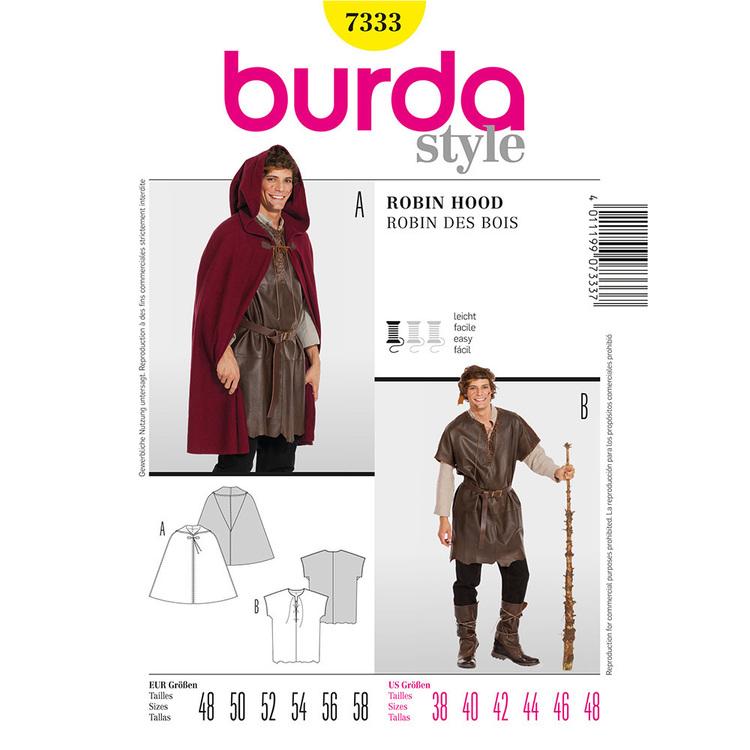 Burda Pattern 7333 Robin Hood Costume