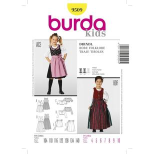 Burda Pattern 9509 Kid's Dirndl Dress