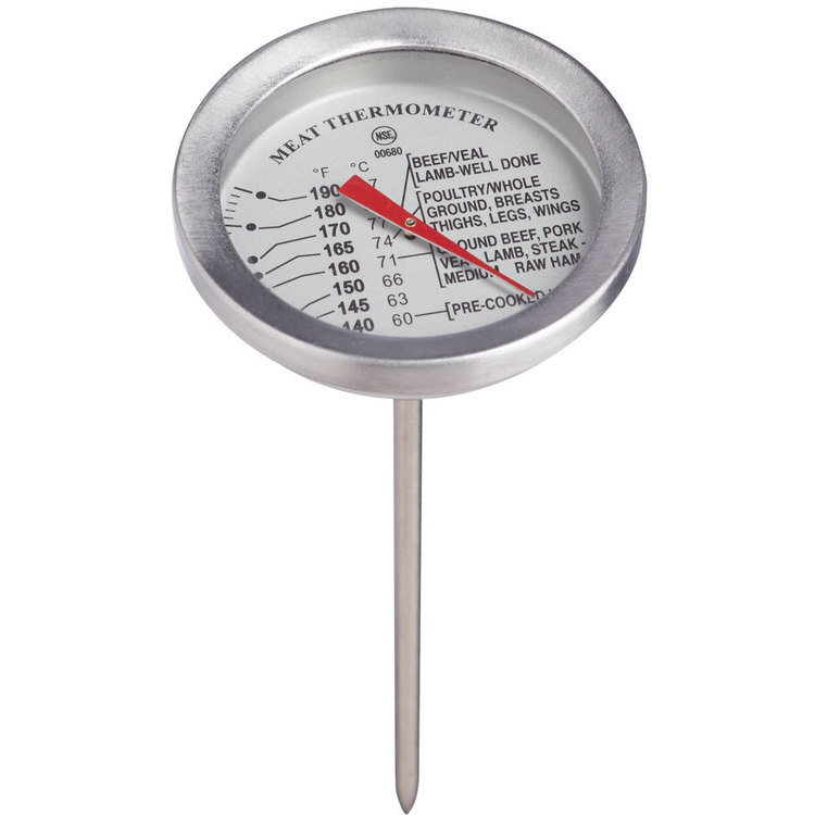 AcuRite Kitchen Essential Style Meat Thermometer Silver
