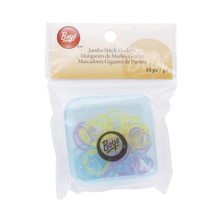 Boye Jumbo Stitch Markers 35 Pack