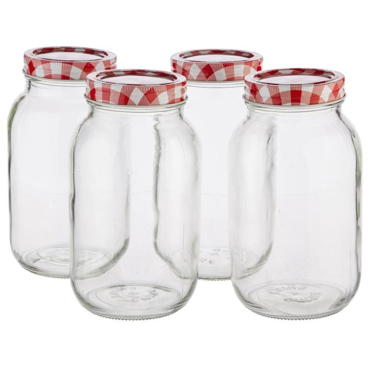Mason Preserving Jars Set of 4