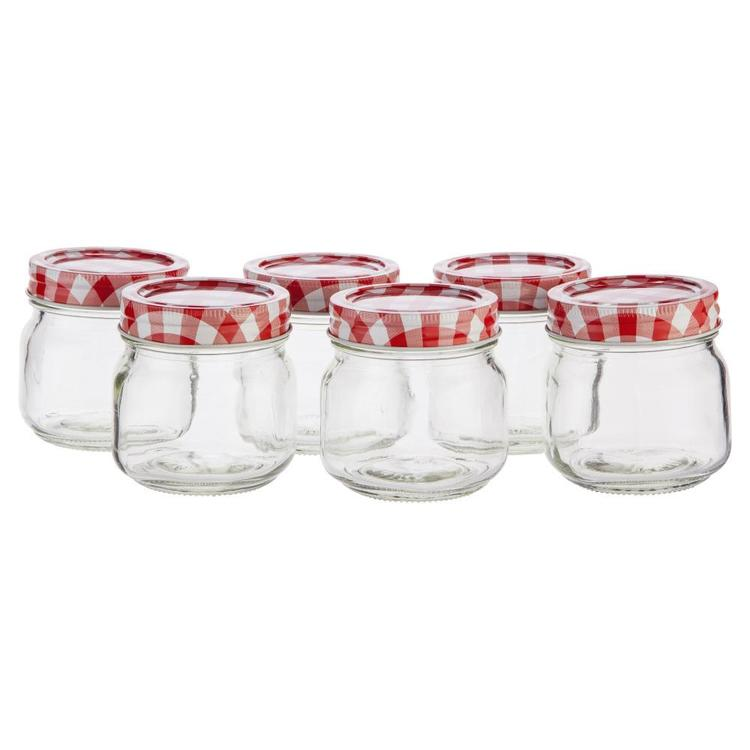 Mason Preserving Jars Set of 6 Clear