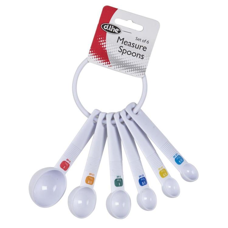 D.Line Measure Spoons 6 Set White