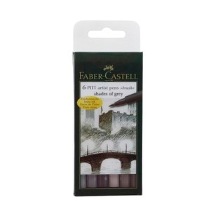Faber Castell Pitt Artist Pen Shades Of Grey