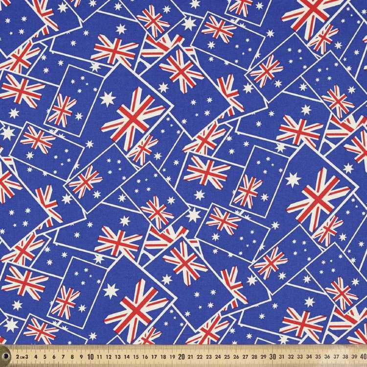 Australia National Flags Allover Fabric