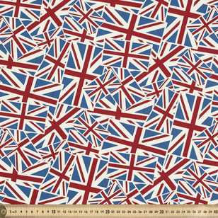 British National Flags Allover Fabric