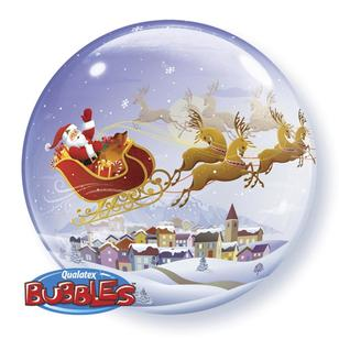 Qualatex Bubbles A Visit From St Nick Balloon