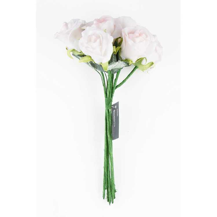 Vivaldi Blossoms 7 Head Foam Rose Bunch