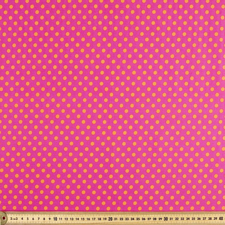 Spots & Stripes Two Tone Spot Printed 112 cm Fabric