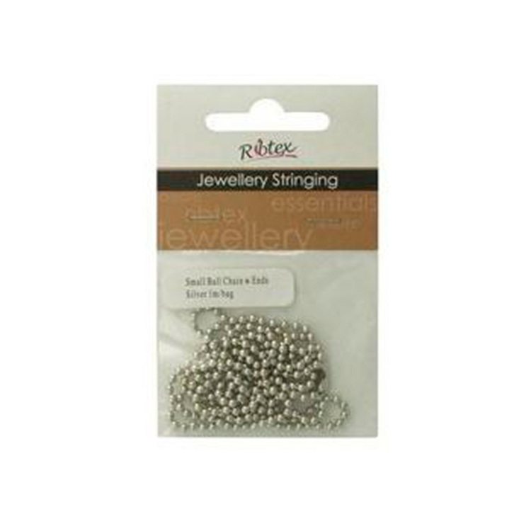 Ribtex Jewellery Stringing Small Ball Chain With Ends