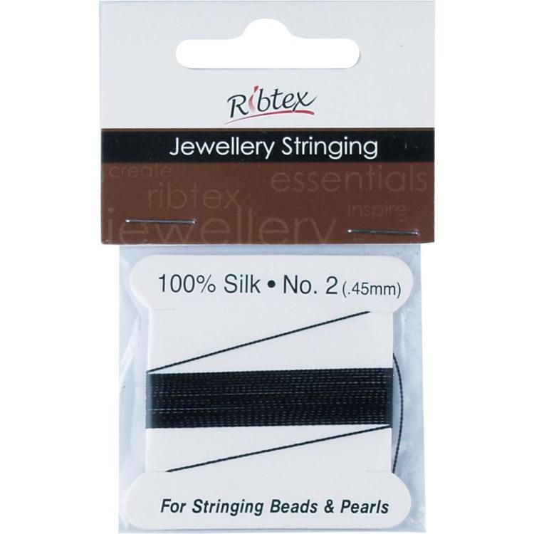 Ribtex Jewellery Stringing 100% Silk Bead Cord