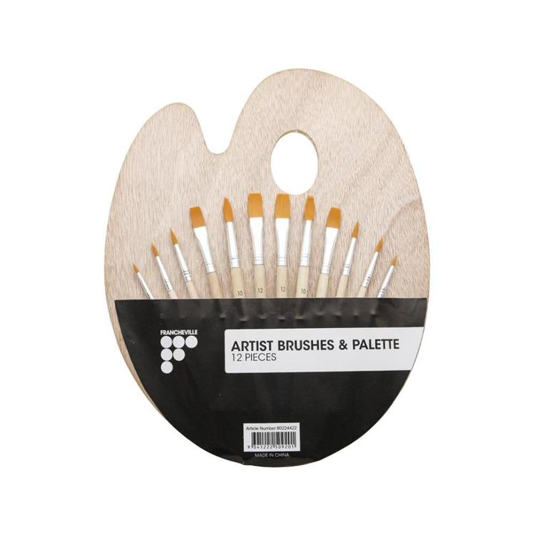 Francheville Artist Brush & Palette