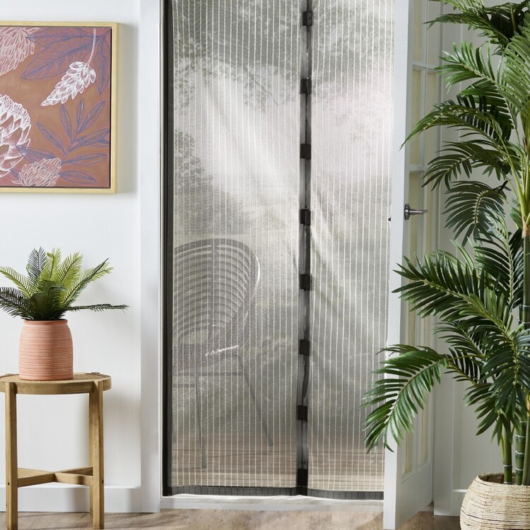 Mozzie Free Black Magnetic Door Screen