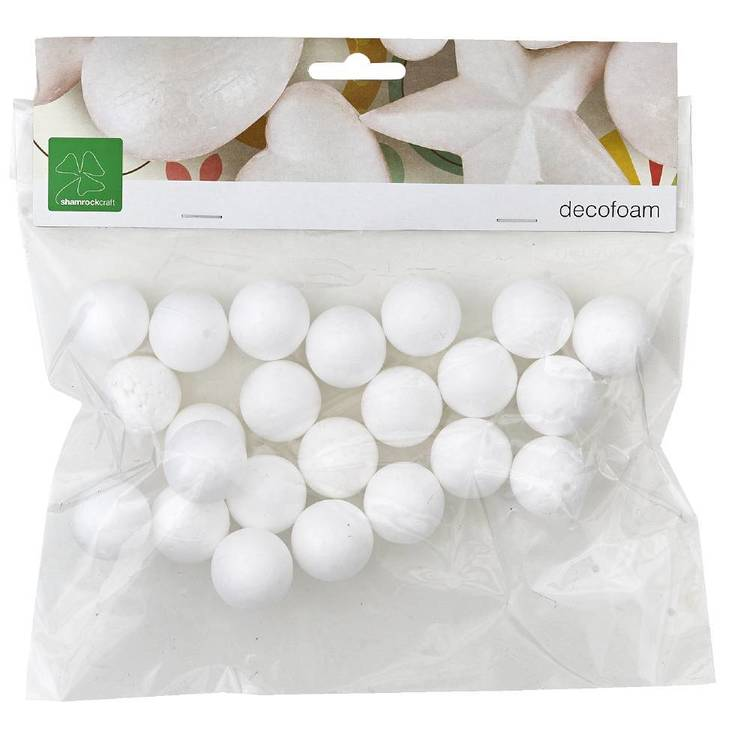 Shamrock Craft Deco Foam Balls 20 Pieces