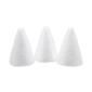 Shamrock Craft Deco Foam Cone 3 Pieces White 100 mm