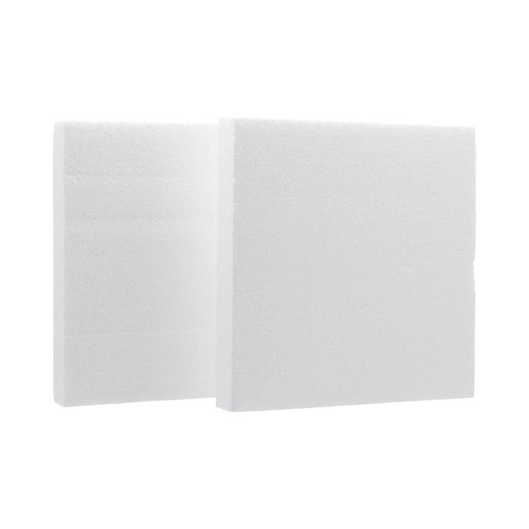 Shamrock Craft Deco Foam Square 2 Pieces White 200 mm