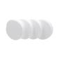 Shamrock Craft Deco Foam Circle 4 Pieces White 100 mm