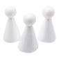 Shamrock Craft Deco Foam People 3 Pieces White 100 mm