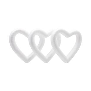 Shamrock Craft Deco Foam Heart Wreath 3 Pieces