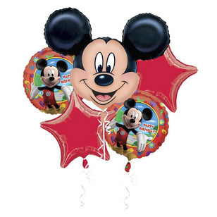 Disney Mickey Mouse Birthday Foil Balloon Bouquet
