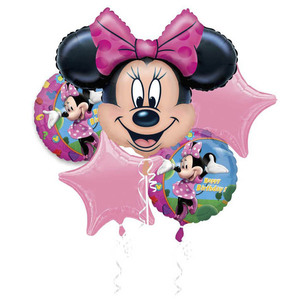 Disney Minnie Mouse Birthday Foil Balloon Bouquet