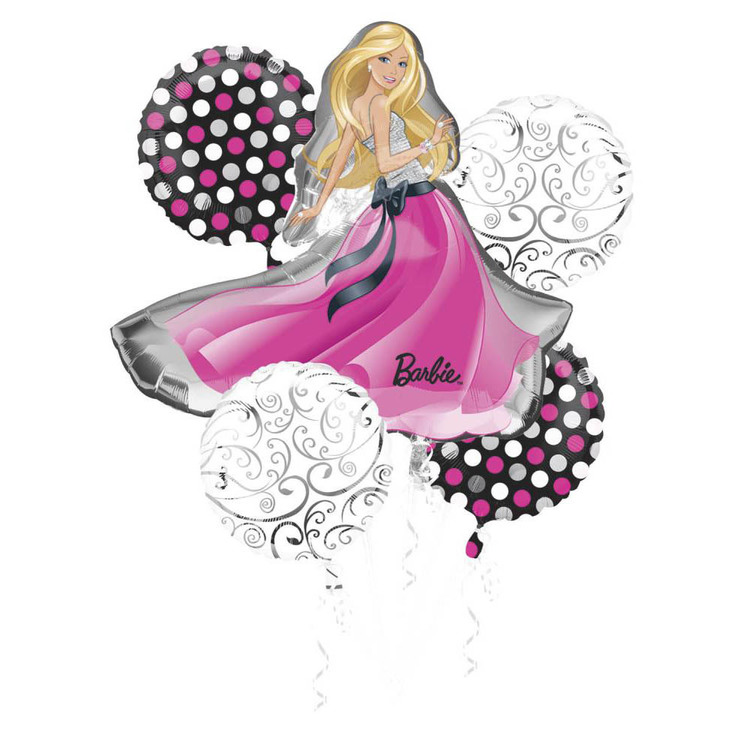 Amscan Barbie Foil Bouquet Balloons Barbie