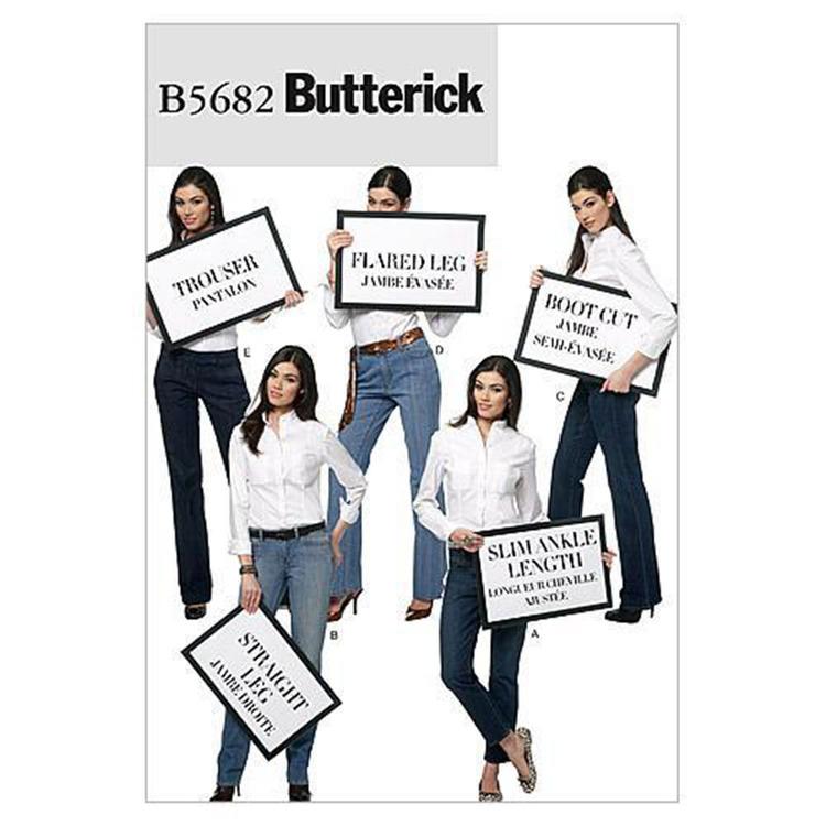 Butterick Pattern B5682 Misses' Jeans & Trousers