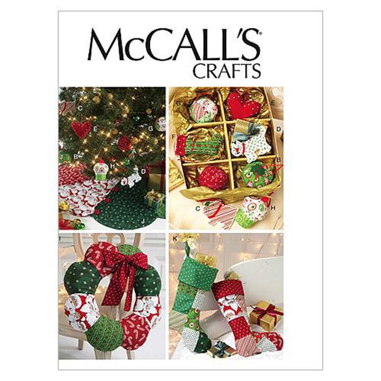 McCall's Pattern M6453 Ornaments Wreath Tree Skirt & Stocking