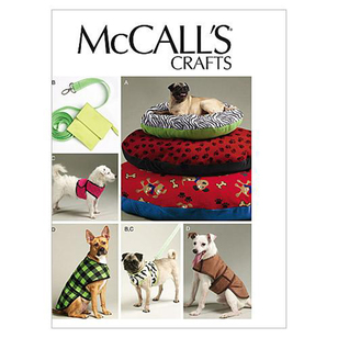 McCall's Pattern M6455 Dog Bed In 3 Sizes Leash Case Harness Vest & Coat