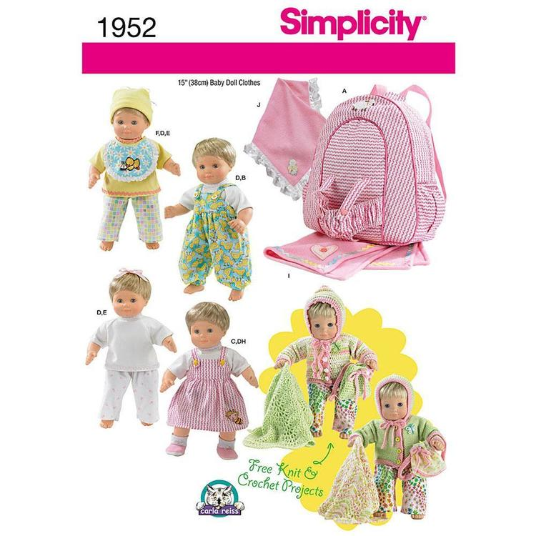 Simplicity 1952 Doll Clothes