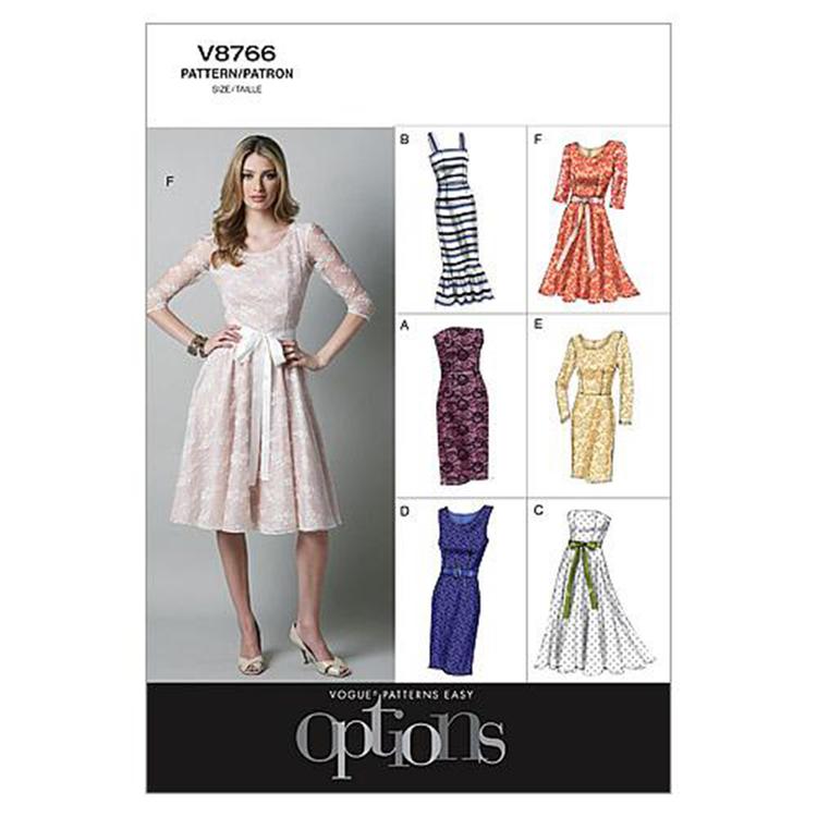 Vogue Pattern V8766 Misses' Petite Dress
