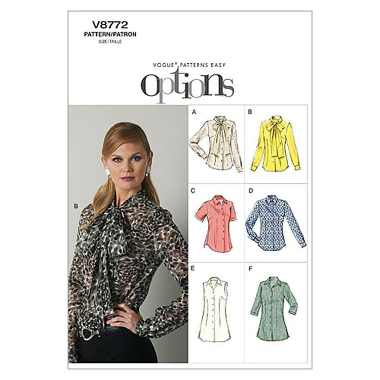 Vogue Pattern V8772 Misses' Blouse