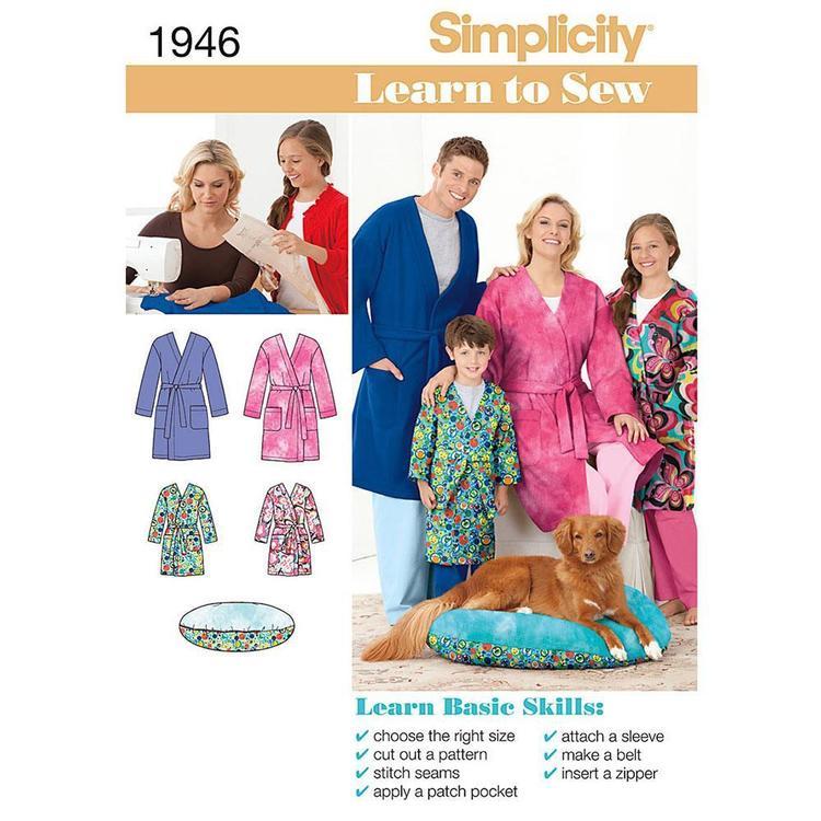 Simplicity Pattern 1946 Unisex Robe
