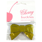 Cherry Enamel Bow Buckle Yellow 65 mm