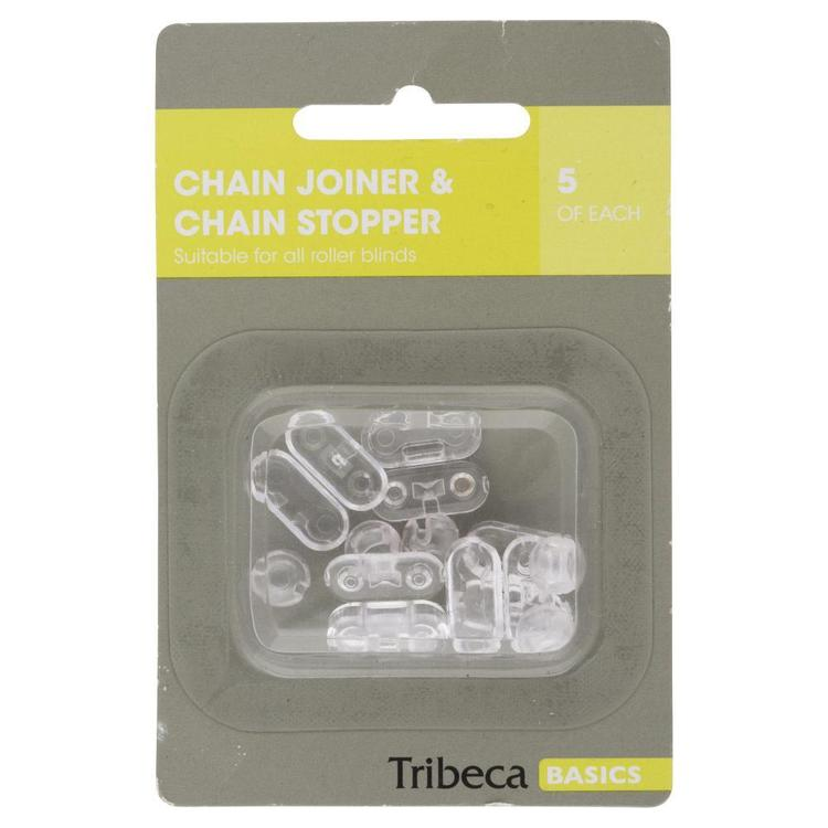 Tribeca Chain Joiner & Chain Stopper Clear