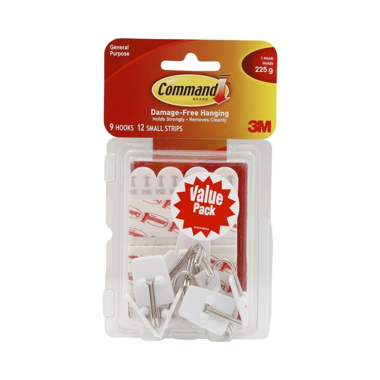 3M Command Wire Hooks Value Pack