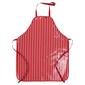 Ladelle Striped Large PVC Apron Red