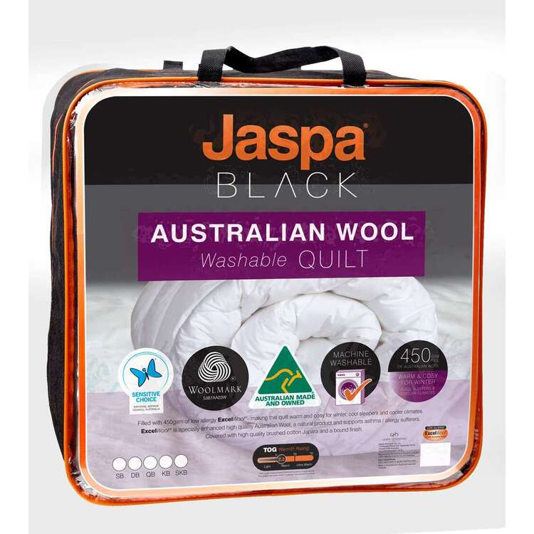 Jaspa Black Australian Wool Quilt