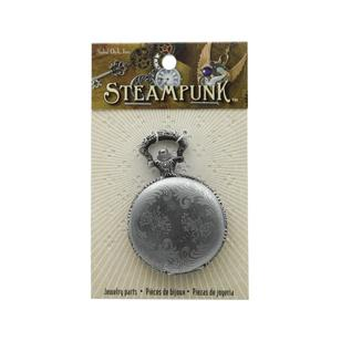 Steampunk Silver Floral Watch Case