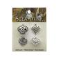 Steampunk Heart Charms Silver