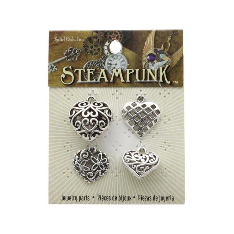 Steampunk Heart Charms